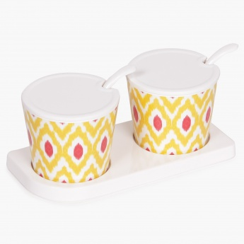 Remaster Condiment Set With Stand- Set Of 2