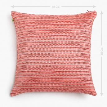 Gala Melange Textured Cushion Cover - Set of 2 - 40 X 40 CM