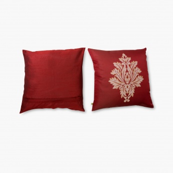 Gala Motif Jacquard Cushion Cover- Set of 2 - 40 x 40 cm