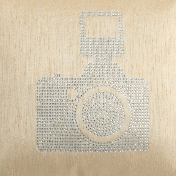 Gala Crystal Camera Cushion Cover- Set of 2 - 40 x 40 cm