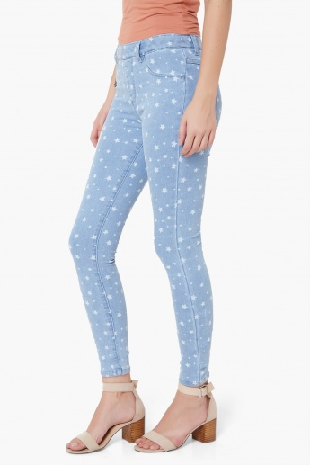 KRAUS Star Print Jeggings