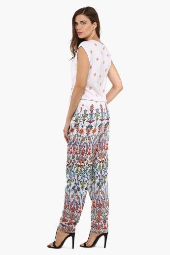 COLOUR ME Printed Sleeveless Jumpsuit