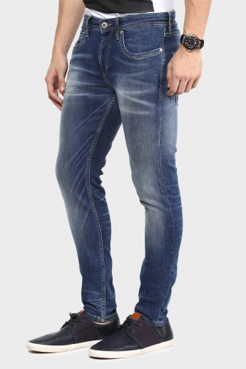 JACK & JONES Skinny Fit Whiskered Jeans