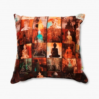 Aurora Buddha Print Filled Cushion - 30 X 30 CM