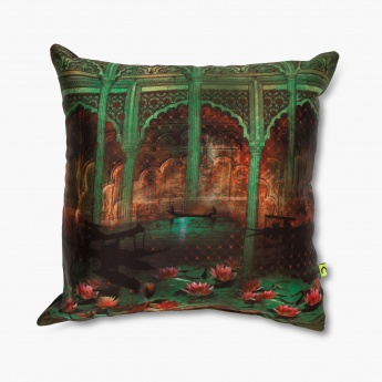 Aurora Jalmahal Filled Cushion - 30 X 30 CM