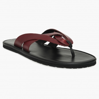 2c792cbb423c3 FRANCO LEONE Dual Strap Thong-Style Leather Sandals