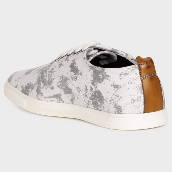 FRANCO LEONE Printed Canvas Lace-Up Shoes