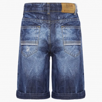 GINI&JONY Tattered Denim Shorts