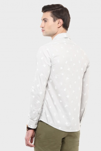 JACK & JONES Fly By Full Sleeves Printed Shirt