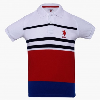 U.S. POLO ASSN KIDS Striped Sailor Polo T-Shirt