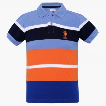 U.S. POLO ASSN KIDS Striped Polo T-Shirt