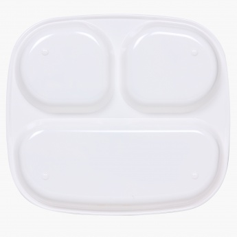 Fabulous 3 Rectangular 3 Partition Kids Plate