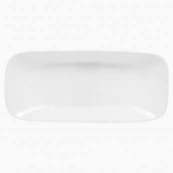 CORELLE Frost Gold Square Round Fish Plate