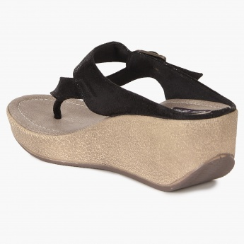 RAW HIDE Buckle Detail Fashion Sandals