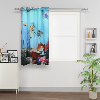 Kids Adventures of U-tron Single Window Curtain
