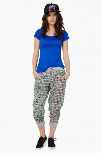 SMILEY Printed Jogger Pants