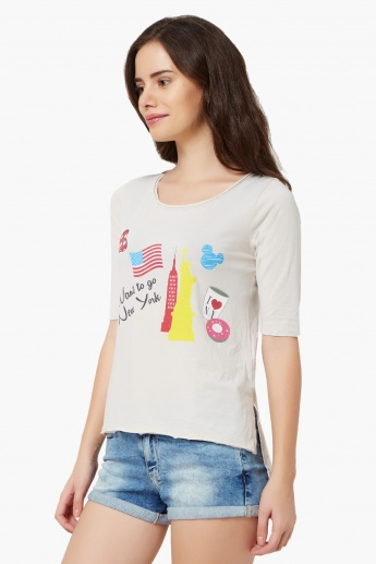 GINGER New York Print Top