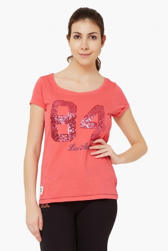 KAPPA Sequinned 84 Round Neck T-Shirt