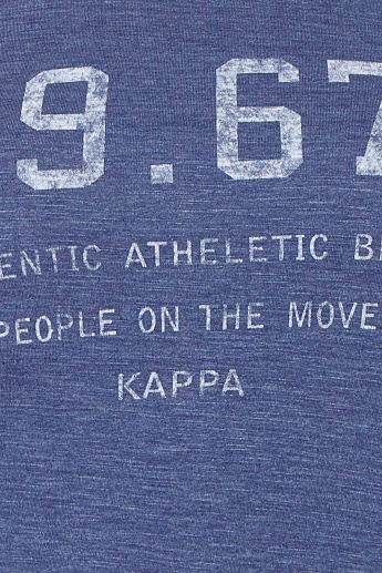 KAPPA Chest Imprint V-Neck Top
