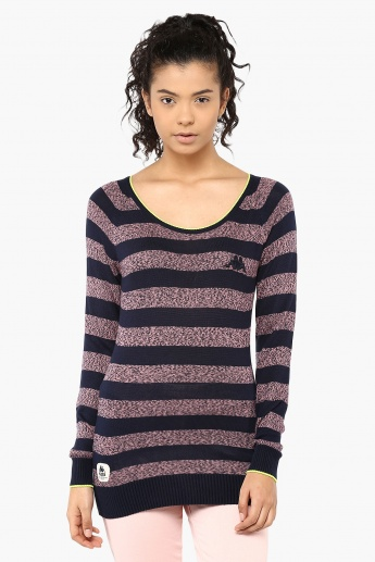 KAPPA Striped Full Sleeves Pullover
