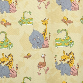 Kids City Goes Wild Kids Jungle Book Printed Single Window Curtain