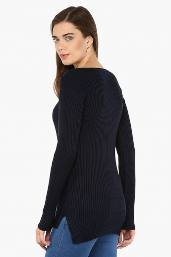 BOSSINI V-Neck Full Sleeves Sweater