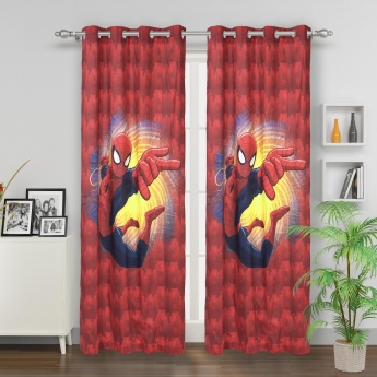Kids Spiderman Printed Single Door Curtain