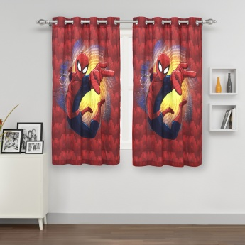 Kids Spiderman Printed Single Window Curtain