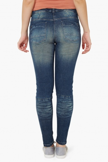 GINGER Stonewashed Whiskered Jeans