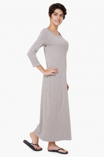 STRINGS Striped Maxi Nightdress