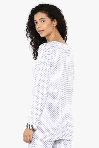 STRINGS Starry Print Top