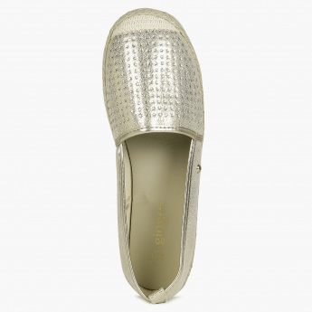 GINGER Shimmer Stud Slip Ons Shoes