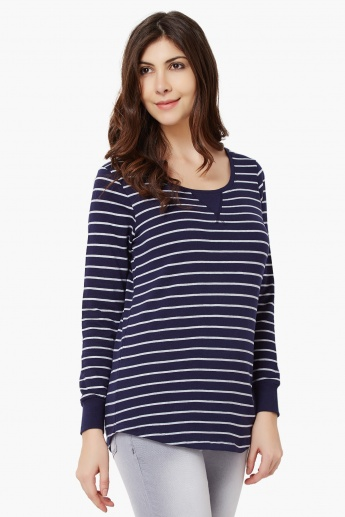 FAME FOREVER Full Sleeves Striped Top