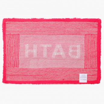 Bath Text Tufted Bathmat