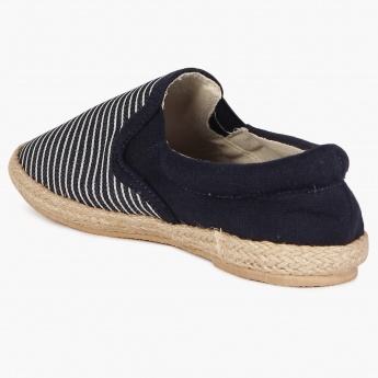 JUNIORS Striped Espadrilles