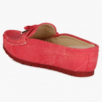 GINGER Metallic Blush Moccassins