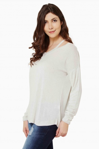 GINGER Flat Knit Full Sleeves Top