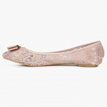 GINGER Lace &Bow Ballerinas