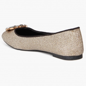 GINGER Faux Crystals Ballerinas
