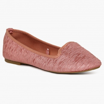 GINGER Textured Ballerinas