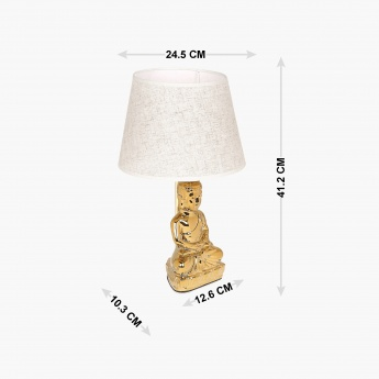 Ceramic Buddha Table Lamp