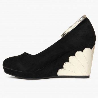 CODE Suede Finish Wedge Heels