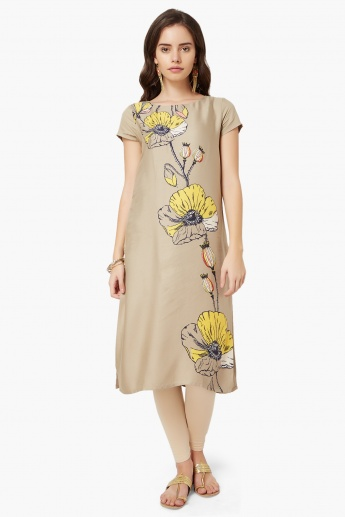 MELANGE Flower Stem Imprint Kurta