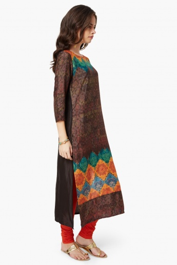 MELANGE Printed Long Kurta