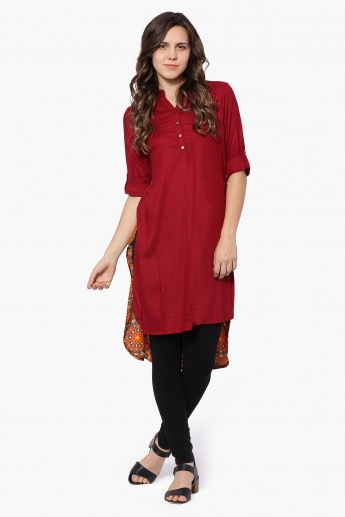 MELANGE Printed Back Hi-Low Kurta