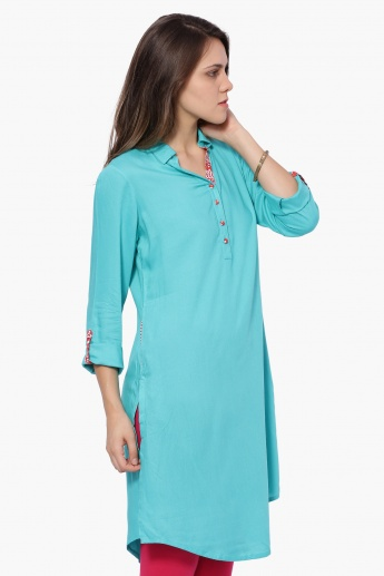 MELANGE Roll-Up Sleeves Kurti