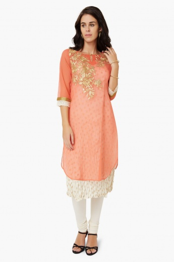 MELANGE Embroidered Layered Kurta