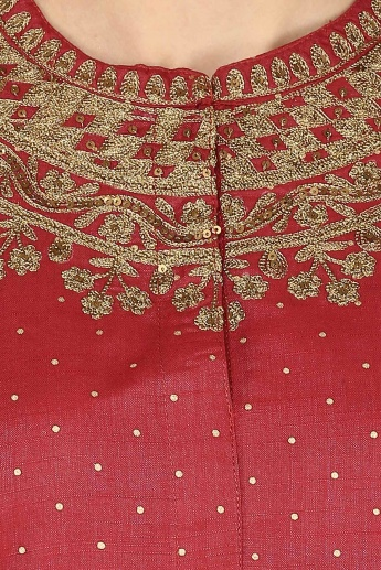 MELANGE Shimmer Embroidered Kurta