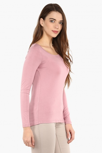 CODE Rosy Blush Full Sleeves Top