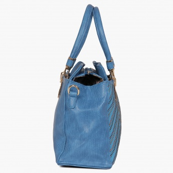 CODE Textured Adjustable Strap Handbag